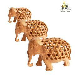 Wooden Decorative Elephant Statue