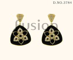 Cubic Zircon Designer Hanging Earrings