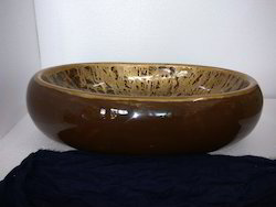 24x15 Brown Ceramic Washbasin