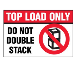 Top Load Only Package Handling Label