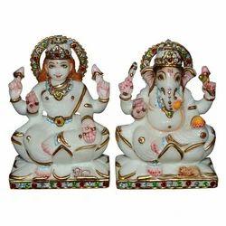 Marble Laxmi Ganesha Statue