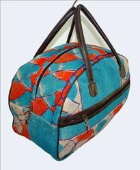 Vintage Cotton Kantha Bowling Bag