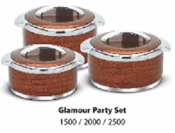 Glamour Insulated Casserole 3 Pcs Party Set