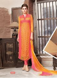 Embroidered Pure Georgette Salwar Suit