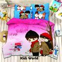 Kids World Bed Sheet Rosepetal