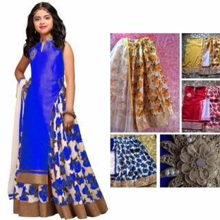 4b020746ac0 Girl s Party wear Gown - Kids Fancy Indo Western Wear Manufacturer ...