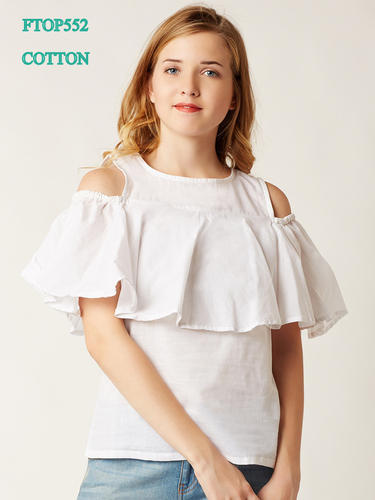 d421f951dffa4 Cold shoulder - Out In The Space Cold Shoulder Top White ...
