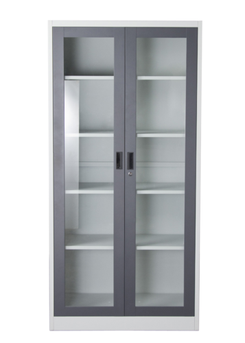 2 Door Glass Door Cabinet Manufacturer From Mumbai