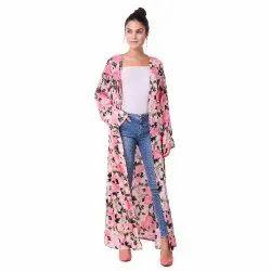 Pink Floral Shrug