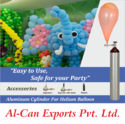 Helium Gas Cylinders For Party Balloon Decorators
