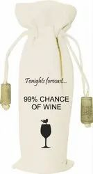 Canvas Printed Wine Bag
