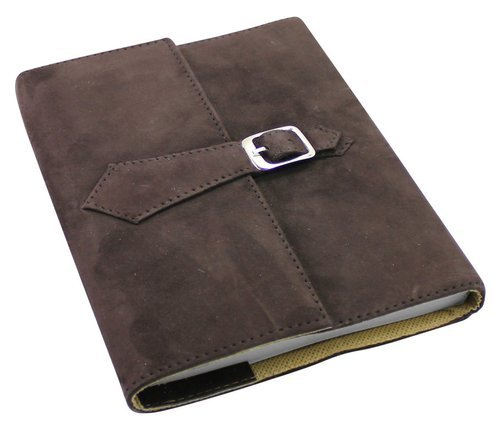 Refillable Leather Suede Journal With Buckle