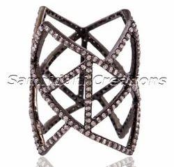 Prism Finger Silver Ring