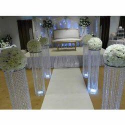 Wedding Decorative Crystal Pillar