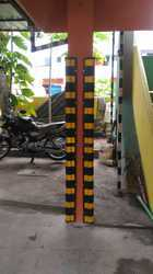 Rubber Column guard for Individual car parking