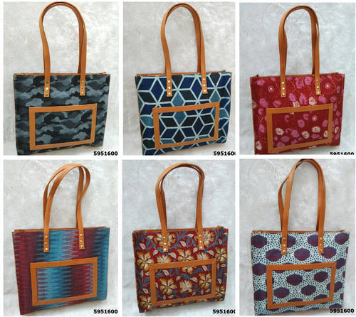 Trendy Ikat Print Hand Bag