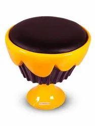 Ice Cream Cup Cake Chair/ Stool- Black