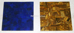 Lapis Lazuli and Tiger Eye Tiles