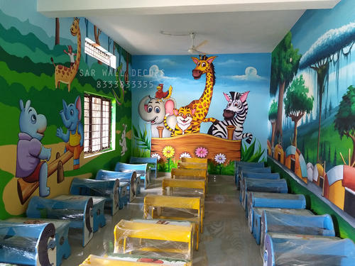 3d wall painting art dinosaur 3d wall painting for play schools products services service provider from hyderabad