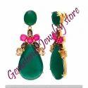 Multi Colors Chalcedony Earrings