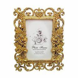 Golden Look Designer Photo Frame Decorative Gift Item