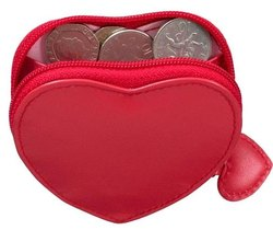 Leather Heart Shape Coin Purse