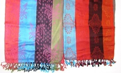Fringes With Printed Jamawar Shawls