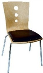 Bentwood Seat Cushioned Fix Type Chair