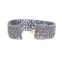 Pave Diamond Gemstone Bracelet