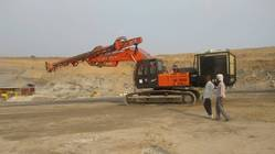 Excavator Mounted Drilling Rig