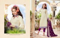 Designer Cotton Suit Trendy Vol - 35 ( Suryajyoti )