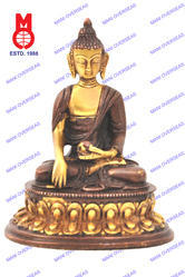 Lord Buddha Sitting W/ Oval Base Statue