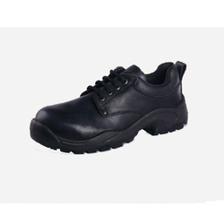 Black Steel Buff Oily Leather Safety Shoe