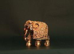 Gold Plating Elephant Statue