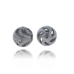925 Silver Filigree Ball Beads