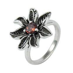 Classy Design Garnet Gemstone 925 Sterling Silver Ring