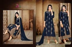 3/4 Sleeve Malhar Salwar Suit Fabric