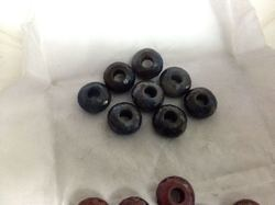Blue Sapphire Faceted Big Hole Beads