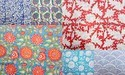 Indian Hand Block Flower Printed Cotton Fabric