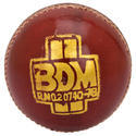 BDM Ambassador Red Cricket Leather Ball