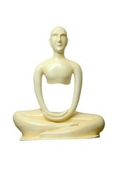 Modern Yoga Statue In Meditation Position