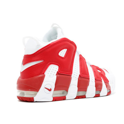 Red Nike Air More Uptempo Shoes, Size