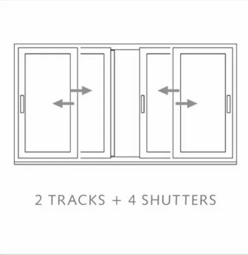 Sliding Window Systems - 2 Tracks 4 Shutters Fix Frame Sliding ...
