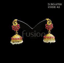 Ruby Traditional Designer Earrings