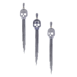 Diamond Skull Charm Tassel Pendant