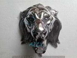 Large Lion Head Shiny Polished Wall Sculptures