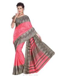 Peach Color Uniform Silk Saree