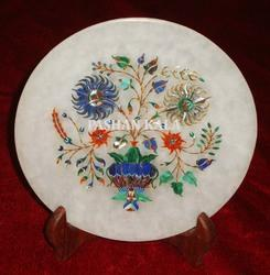 Stone Marble Inlay Decorative Plate