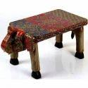 Wooden Decorative Elephant Table