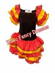 Fancy Kids Salsa Girl Costume, Age: 3-4/5-6/7-8